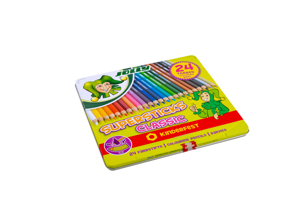 Farben 24.Coloured Pencils Supersticks Classic 24 Colours Jolly Jolly