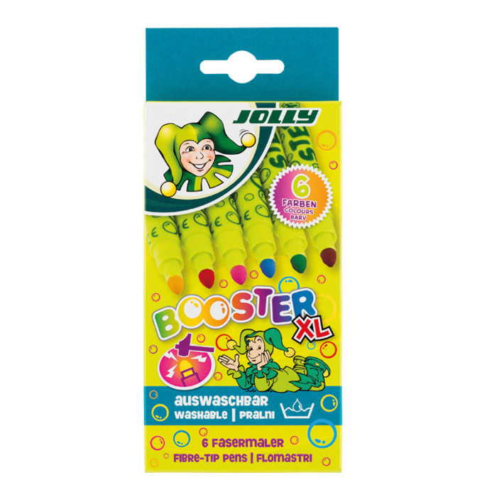 Booster XL 6 Farben fibre tip pens, fibre painters, felt tip pens