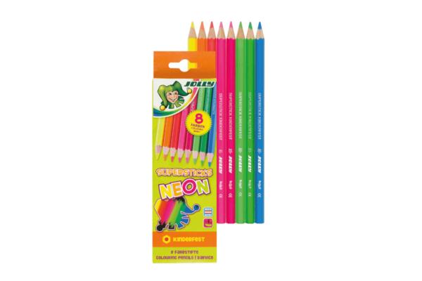 Buntstifte für Kinder Neonfarben