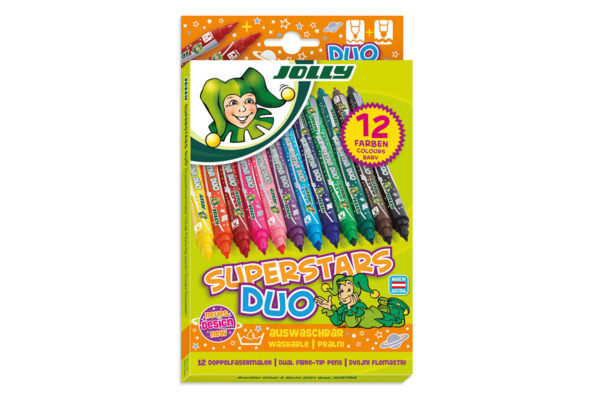 Fasermaler Superstars DUO 12 Farben