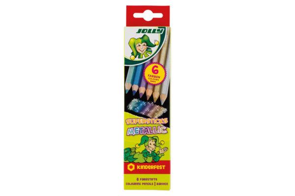 Supersticks Metallic 6 Farben, Buntstifte