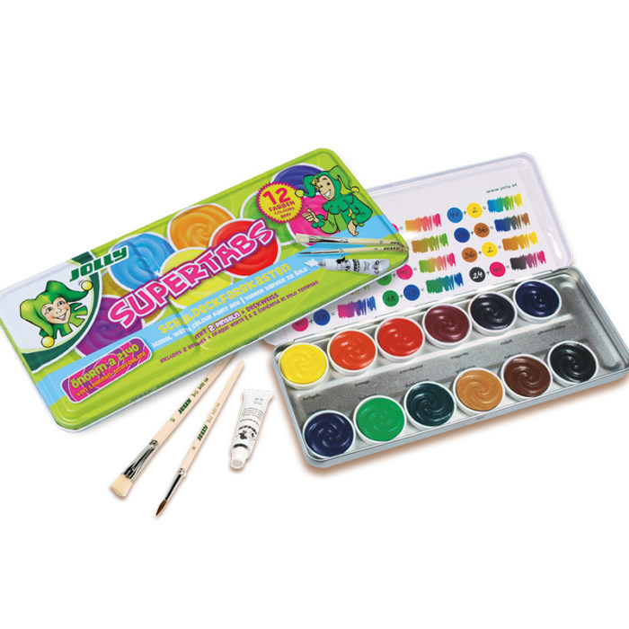 Supertabs 12 colours paintbox