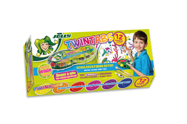 Twintabs 12 colours, opaque colours, paintbox