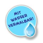 Mit Wasser vermalbar