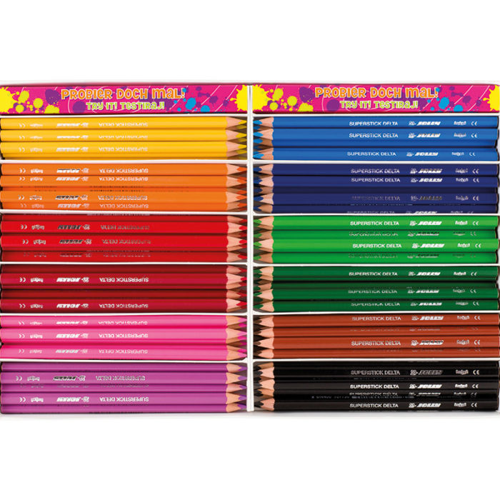 Colouring pencil, crayon Superstick Delta