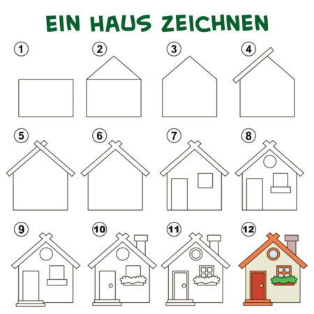 Ein Haus zeichnen