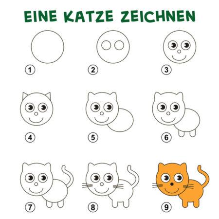 Eine Katze zeichnen