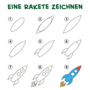 Eine Rakete zeichnen