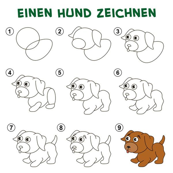 owalo design hunde bilder malen einfach