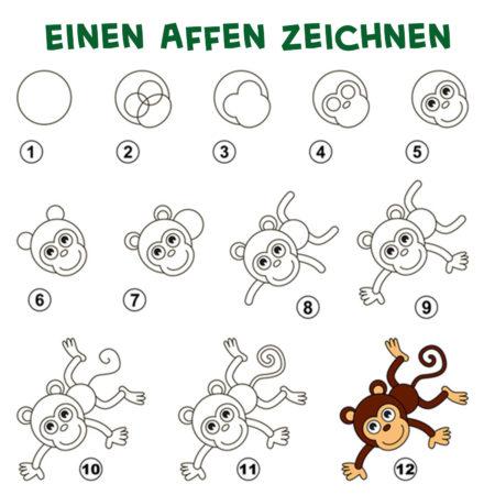 Einen Affen zeichnen