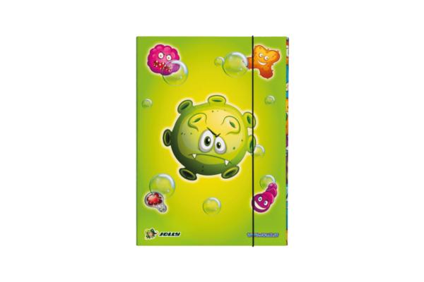 Bunte Heftbox mit Gummizug
