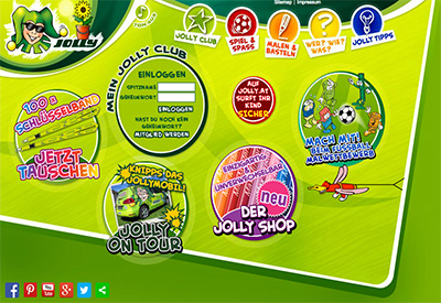 Jolly Kinderwebsite