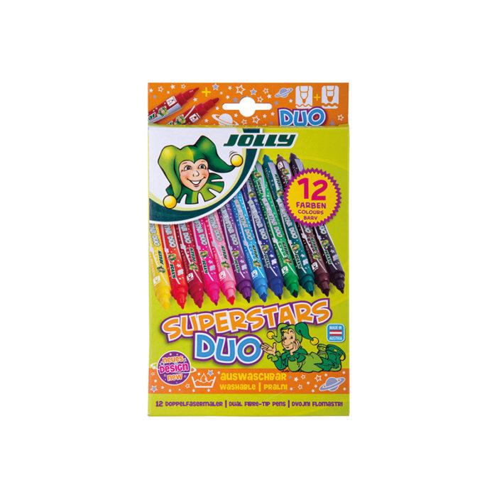 Superstars Duo 12 Farben, fibre tip pens, fibre painters, felt tip pens  2 tips
