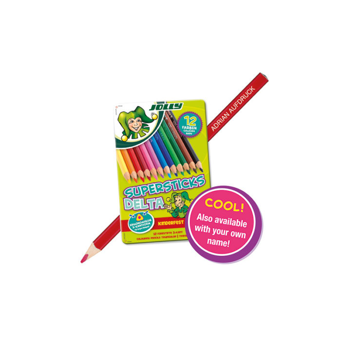 Coloured pens with individual name