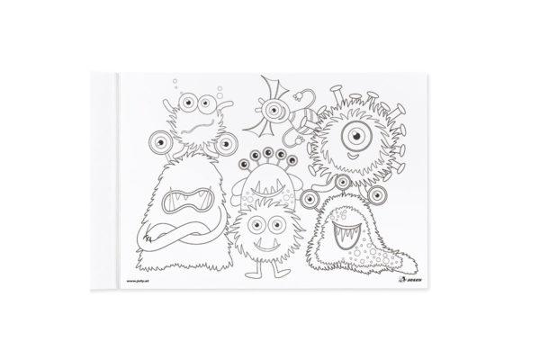 Zeichenblock A4 Monster