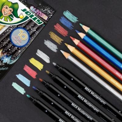 Crayons, Marker, sparkling