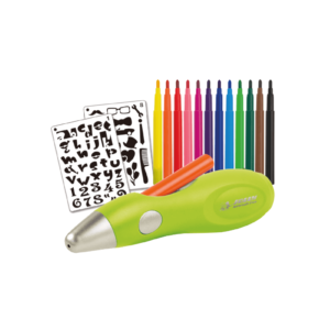 Kinder Air Brush Set mit Schablonen
