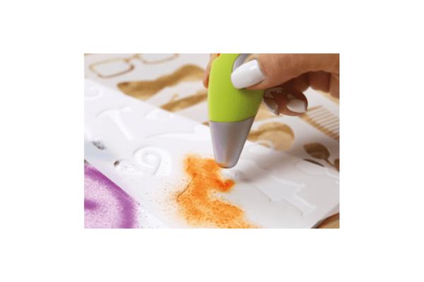 Airbrush mit Schablonen