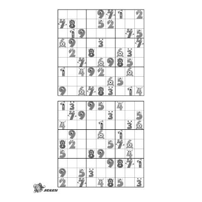 Kinder Sudoku zum Ausmalen