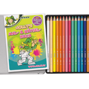 Crayons with colouring book