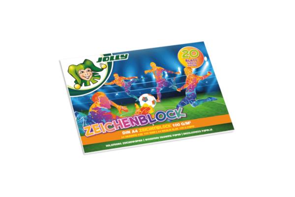 Zeichenblock Fussballfans