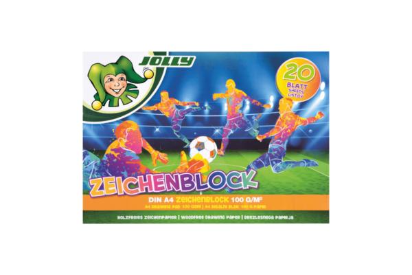Zeichenblock Fussball