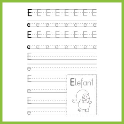 Schreibübung E