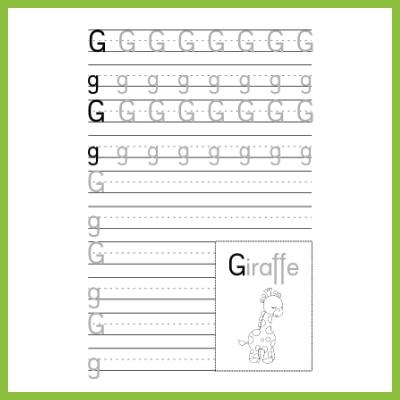 Schreibübung G