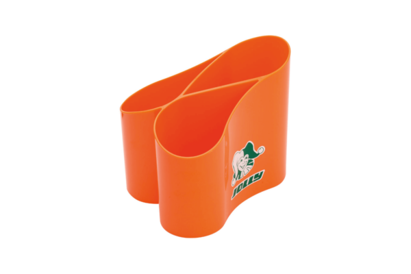 Stiftehalter Loop orange für den Schreibtisch