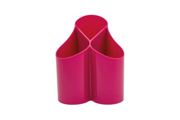 Stiftehalter Loop rosa für den Schreibtisch