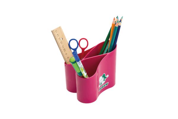 Stiftehalter pink Loop für den Schreibtisch