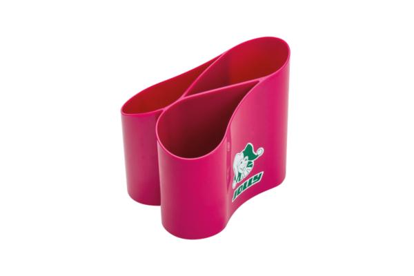 Stiftehalter Loop pink für den Schreibtisch