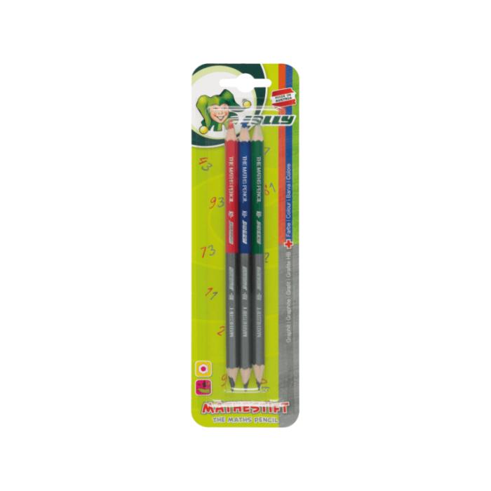 Mathestift - Bleistift und Buntstift in einem